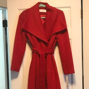 Red Tahari Wrap Coat